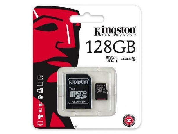 Card micro SDXC Kingston Canvas Select 128GB C10