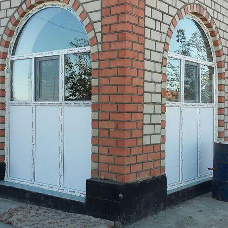 Пластиковые и алюминиевые окна двери витражы любой сложности.