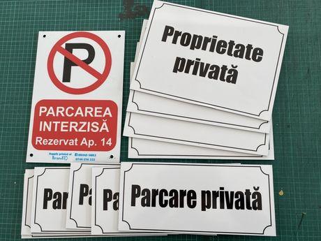 Placa parcare. Nu parcati. Parcare privata