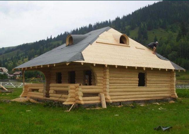Cabana de lemn rotund