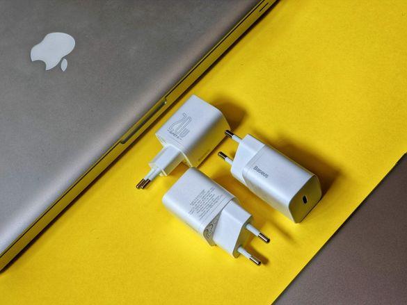 20W Baseus Fast Charge Зарядно за iPhone 12 // Android // ГАРАНЦИЯ