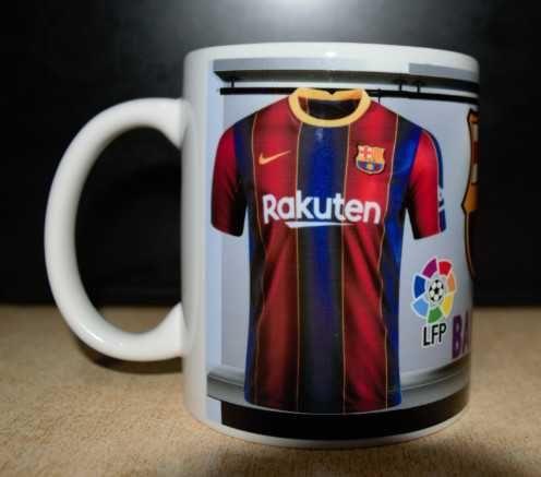 Футболна Чаша на BARCELONA с Ваше име!Уникална Фен Чаша Барселона 2021