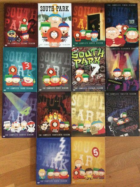 South Park / Южный Парк. 1-14 сезоны коллекционные DVD  (42 диска)