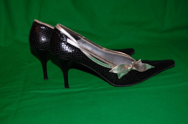Pantofi din piele naturala 38, negri