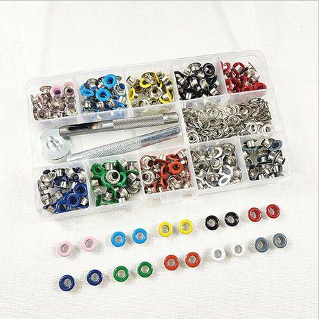Set capse 500 buc, 10 culori cu 5mm diametru Pentru haine, pantofi Noi