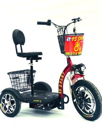 Електрическа триколка с Литиево-йонна батерия / червена / ел.скутер