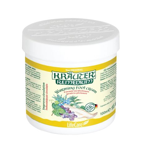 crema incalzitoare pentru picioare, cu plante