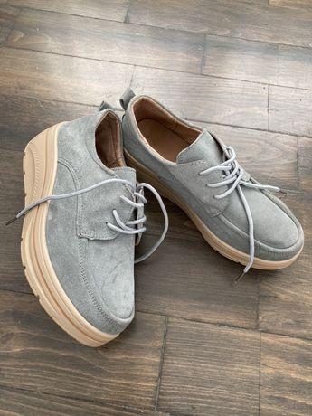 Pantofi albastri platforma femei/dama 36