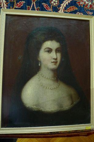 Tablou de la 1800, ulei pe panza