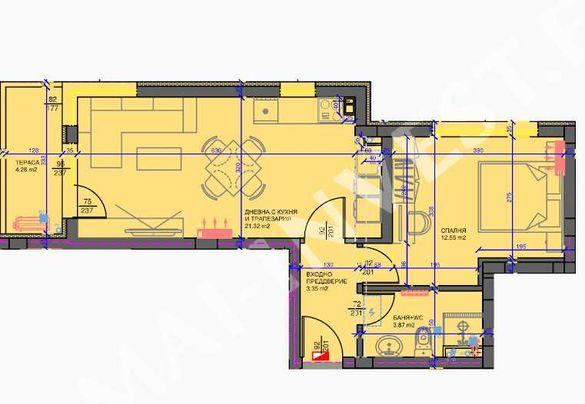 Двустаен апартамент Кючук Париж
