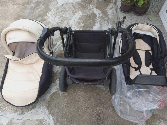 Бебешка и детска количка, 2 в 1, подходяща и за момче или за момиче