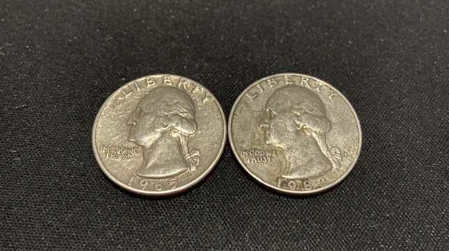Colectie monede SUA, Quarter dollar, One dime, Five cents, One cent