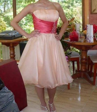 Официална / бална рокля цвят праскова