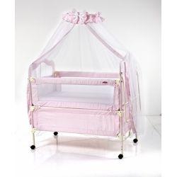 Детская кроватка розовая