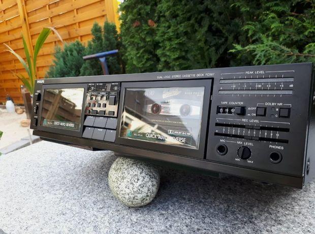 Продам двухкассетную деку Philips FC567