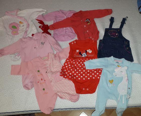 Lot haine 0-3 luni fetita