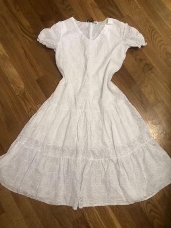 Белое платье.Х/б