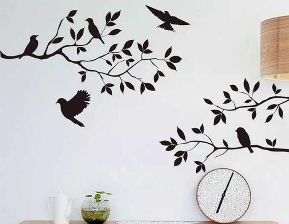 Sticker decorativ de perete/mobila - Pasari pe creanga