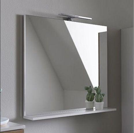 Oglinda baie cu etajera
