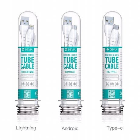 Devia Kintone USB кабел за iPhone, Type C, Micro usb
