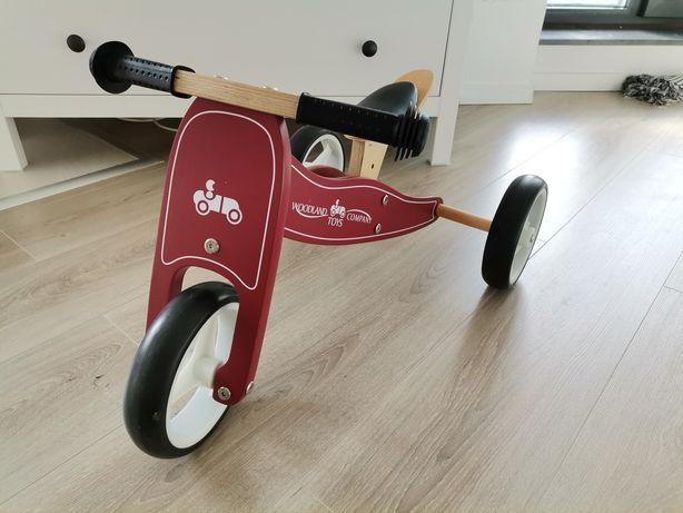 Tricicletă 2-în-1 de lemn, Woodland Toys
