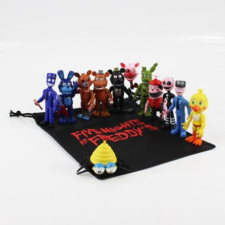 Set 12 Figurine Five Nights at Freddy's FNaF + plasuta (model 1)