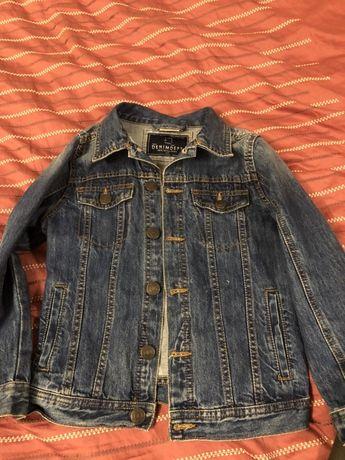 2 Geci copii jeans / piele 6-7 ani