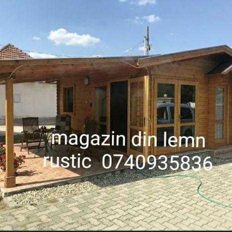 Case făcute  pe structura pe lemn