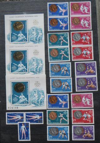 Vând lot timbre tematică Jocuri Olimpice