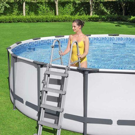 Каркасный круглый бассейн Bestway 457x122 см с фильтром и аксессуарами