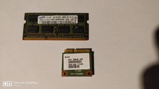RAM DDR3 de 2Gb +plăcuță WLAN Laptop