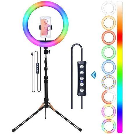 Кольцевая лампа RGB 33 см