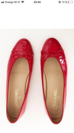 Balerini autentici Chanel 37,5 piele