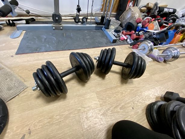 Gantere reglabile profi cauciucate Seturi 30 kg-40 kg-50 kg-60 kg noi