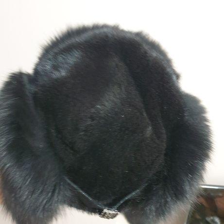 Женская норковая ушанка