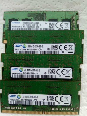 для ноутбука   DDR 4  4 GB 3 шт,