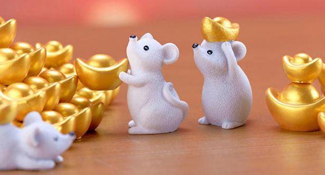 Figurine tort Soricel cu monede de aur 4-5 cm