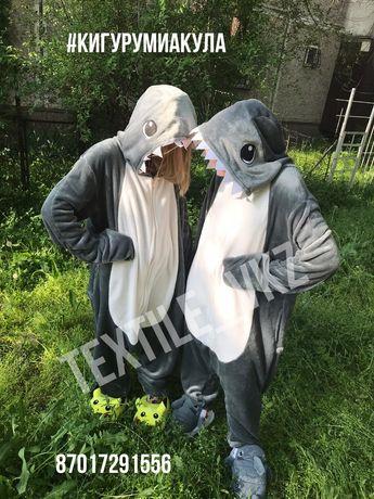 Кигуруми  пижамы бык акула лев одежда для дома