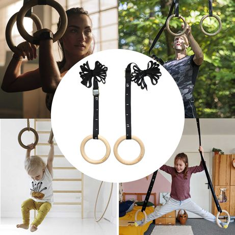 Дървени Гимнастически Халки * трениране гимнастика разтягане + подарък