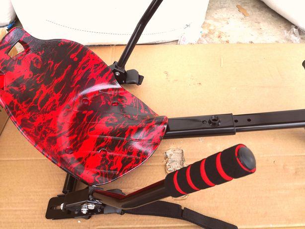 Hoverkart pentru hoverboard cu scaun roșu