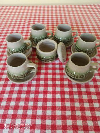 Set cafea 7 piese din anii '70. Nou, nefolosit