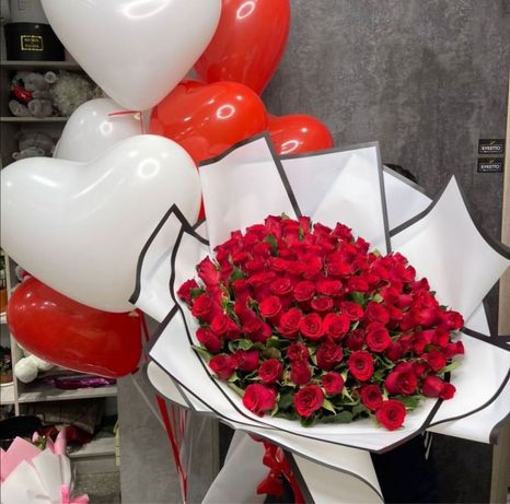 Цветы Алматы Доставка, букеты, розы, пионы!