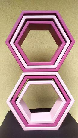 Mobila decor handmade/ rafturi/ hexagon