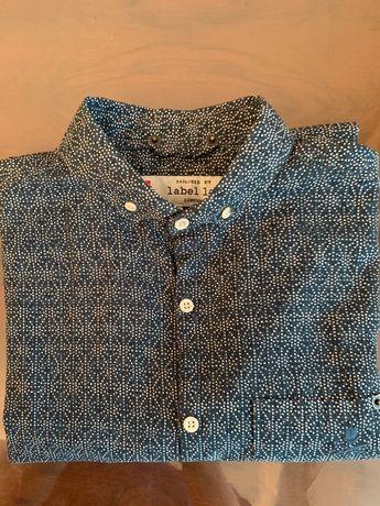 Мужская брендовая дорогая рубашка Label Lab. Англия. 100% хлопок.