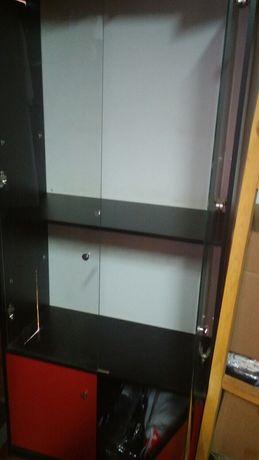 Шкафы стеклянные дверцы и шкафы вешала 5000