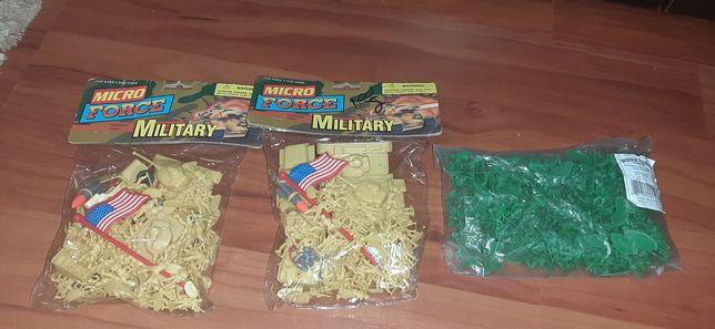 Mini soldatei vechi Micro Force si mini personaje tren Ho