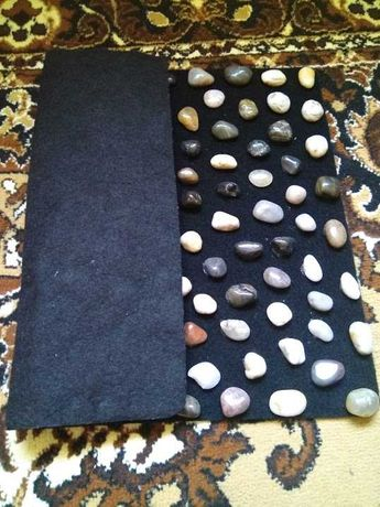 Массажный коврик из натурального камня для ног