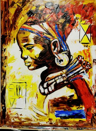 Pânză pe sasiu, tablou, pictura în ulei