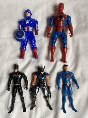 5бр фигури Super man, Batman, капитан Америка, Spider man