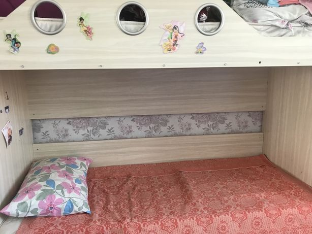 Кровать 2-х ярусная, шкаф